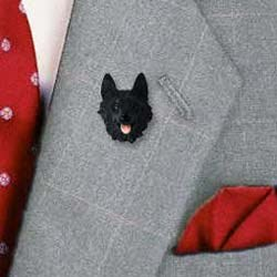 Schipperke Pin Hand Painted Resin