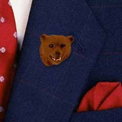 Grizzly Bear Pin Hand Painted Resin