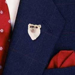 Polar Bear Pin Hand Painted Resin