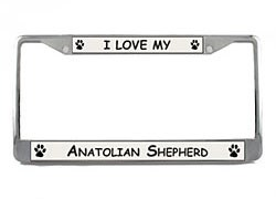 Anatolian Shepherd License Plate Frame