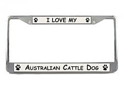 Australian Cattle Dog License Plate Frame