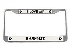 Basenji License Plate Frame
