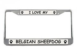 Belgian Sheepdog License Plate Frame