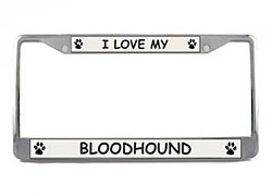 Bloodhound License Plate Frame
