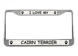 Cairn Terrier License Plate Frame