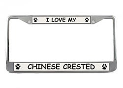 Chinese Crested License Plate Frame
