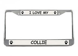 Collie License Plate Frame