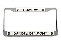 Dandie Dinmont License Plate Frame