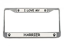 Harrier License Plate Frame