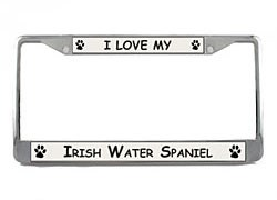 Irish Water Spaniel License Plate Frame