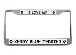 Kerry Blue Terrier License Plate Frame