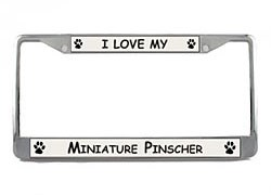 Miniature Pinscher License Plate Frame