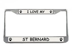 Saint Bernard License Plate Frame