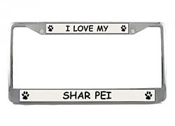 Shar Pei License Plate Frame