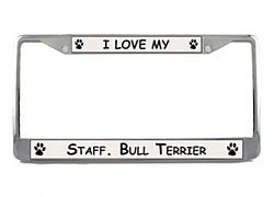 Staffordshire Bull Terrier License Plate Frame