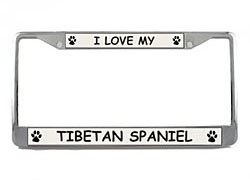Tibetan Spaniel License Plate Frame