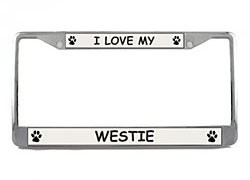 West Highland Terrier License Plate Frame