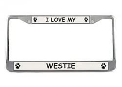West Highland Terrier License Plate Frame