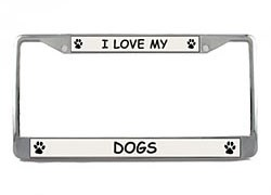 Dogs License Plate Frame