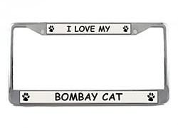 Bombay Cat License Plate Frame