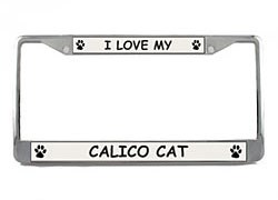 Calico Cat License Plate Frame