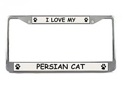 Persian Cat License Plate Frame