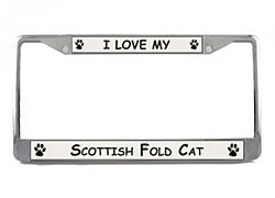 Scottish Fold Cat License Plate Frame