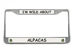 Alpaca License Plate Frame