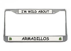 Armadillo License Plate Frame