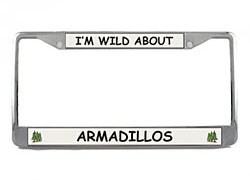 Armadillo License Plate Frame