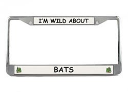 Bat License Plate Frame