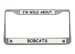Bobcat License Plate Frame