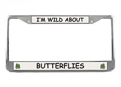 Butterfly License Plate Frame