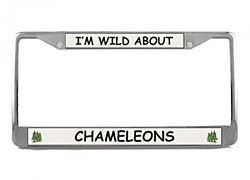 Chameleon License Plate Frame