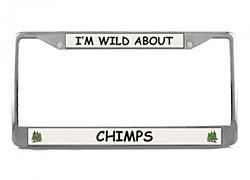 Chimpanzee License Plate Frame