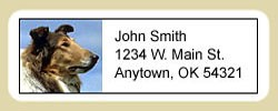 Collie Address Labels