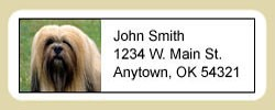 Lhasa Apso Address Labels