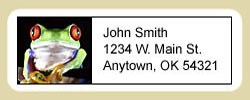 Red Eyed Tree Frog Address Labels