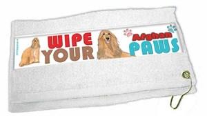 Afghan Hound Paw Wipe Towel