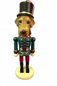 Airedale Terrier Ornament Nutcracker