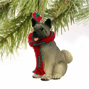 Akita Tiny One Christmas Ornament Gray