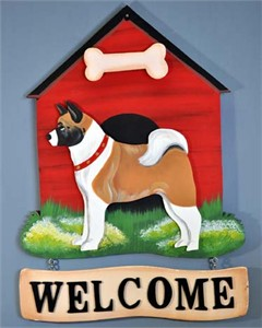 Akita Welcome Sign