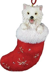 American Eskimo Dog Christmas Stocking Ornament