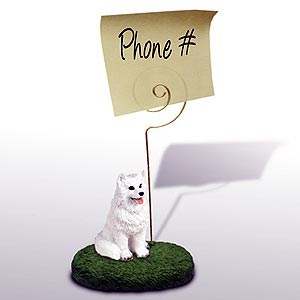 American Eskimo Dog Note Holder