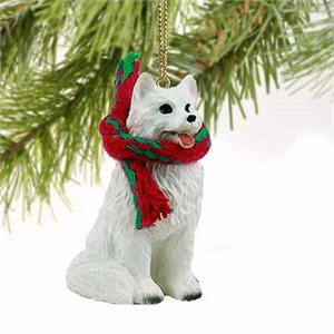 American Eskimo Dog Tiny One Christmas Ornament