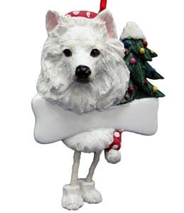 American Eskimo Dog Christmas Tree Ornament - Personalize