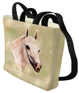 Arabian Horse Tote Bag (White)