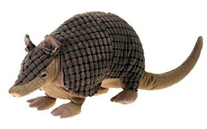 Bean Bag Armadillo Plush Stuffed Animal 12""