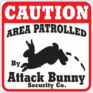 Attack Bunny Sign