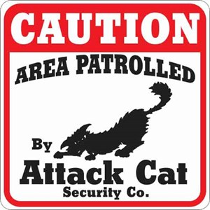Attack Cat Sign